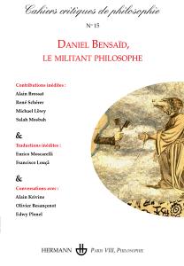 Cahiers critiques de philosophie, n°15