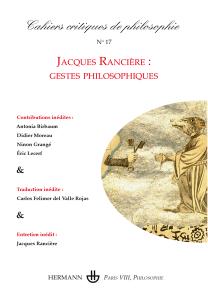 Cahiers critiques de philosophie n°17