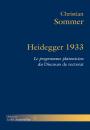 Heidegger 1933