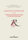 Sciences et littérature suivi de Fortunes des œuvres...