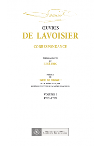 Correspondance, Volume I (1762-1769)